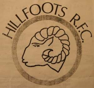 The first Hillfoots logo used on Club programmes & promotional material