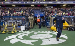 Charlie runs out at Murrayfield for his Country