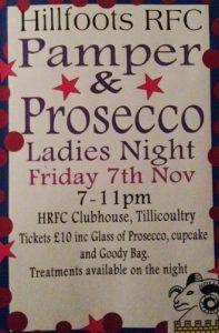 pamper and presecco